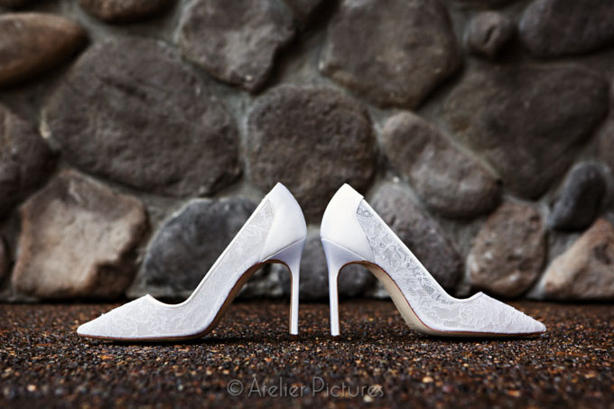 The bride's Manolo Blahnik wedding shoes were the perfect match to her gorgeous dress