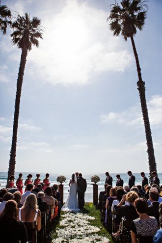 The Scripps Seaside Forum Wedding had a beautiful backdrop next to the Pacific Ocean