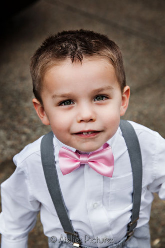 The ring bearer was ready for action