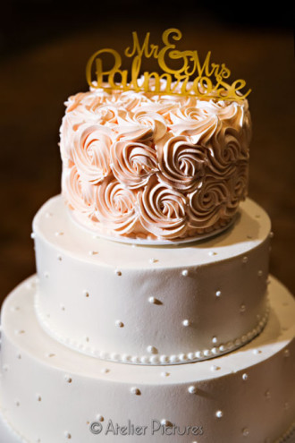 An intricately detailed cake for the Hilton Wedding Reception