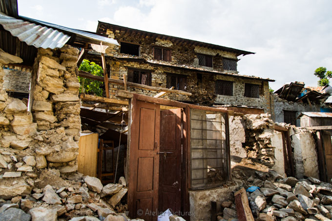 This is what is left of a home for blind children in Nuwakot.