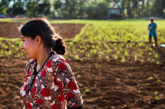 I met this woman as she was tilling her field. After our short