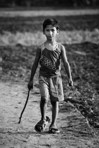 A young boy from Nuwakot