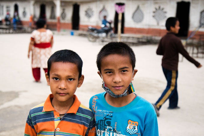 These children were living in the community that began to use th