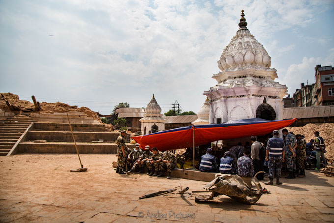 The military stepped in to guard what was left of temples and mo